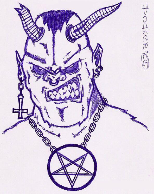 Сатана в рисунках